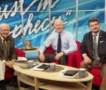 Mike on the set with Dr. David Reagan and Nathan Jones