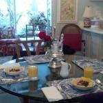 Breakfast at Margaret's house