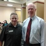 Mike with Chaplain Matt Goff