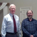 Mike with Pastor Steve Johnson