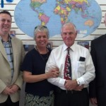 Pastor Luke Crain, Lynda and Fred Lindstrom and Mike