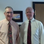 Mike with Pastor Frank Johnson